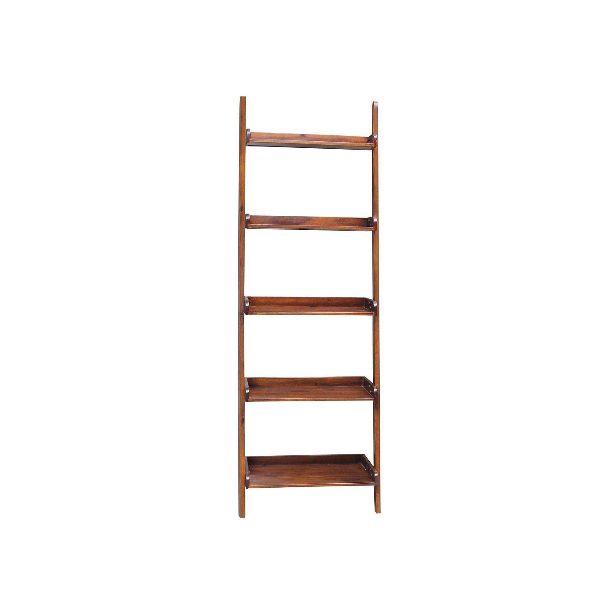 Stair Shelves Luxury Tiered Leaning Shelf Brown