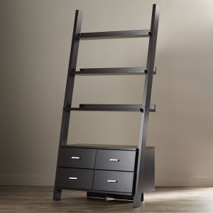 """Stair Shelves Luxury Zipcode™ Design 69"""" Leaning Bookcase & Reviews"""