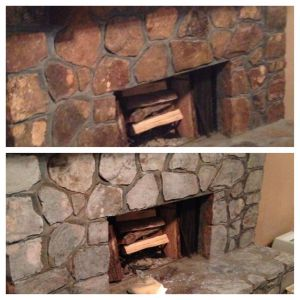Stone Fireplaces Beautiful Diy Painted Rock Fireplace I Updated Our Rock Fireplace