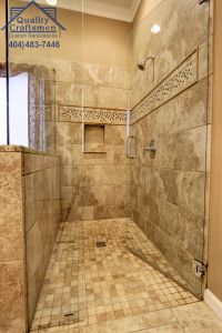 Travertine Bathroom Best Of No Curb Walk In Master Shower Travertine Tile and Recycled