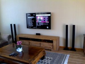 Tv Wall Mount New Tv Wall Mounted Dstv Explora Decoder Installed Home