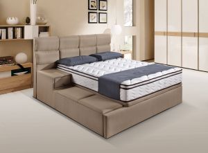 Unique Bed Frames Awesome Storage Bed Frame with Fabric Materials and with Side