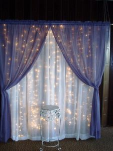 Wedding Curtain Decoration Beautiful Curtain Lights and Sheer Fabric Would Make A Neat Backdrop