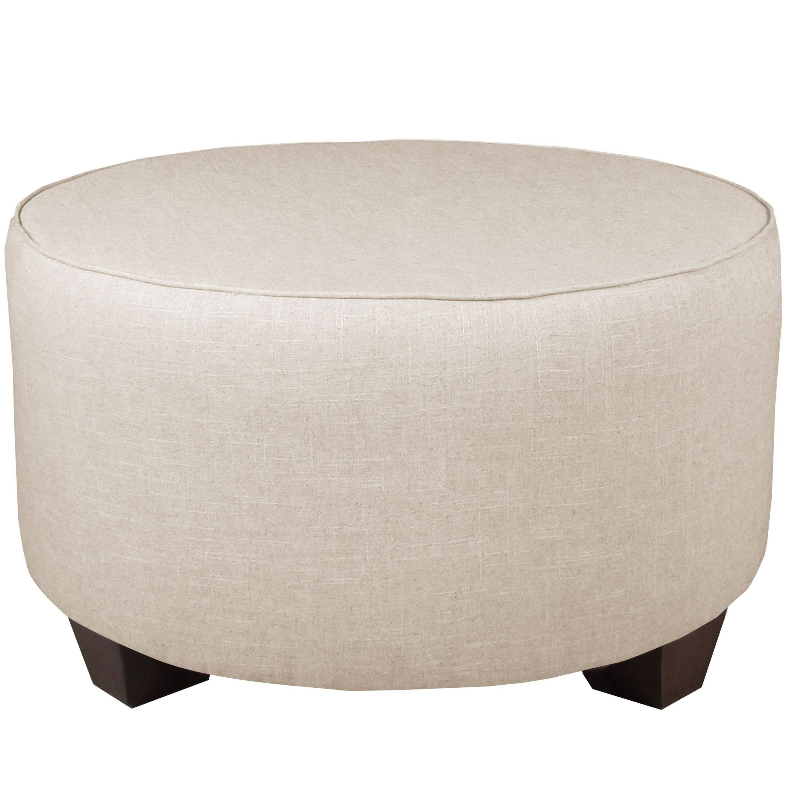What is An Ottoman Fresh Skyline Furniture Linen Talc Round Cocktail Ottoman Linen