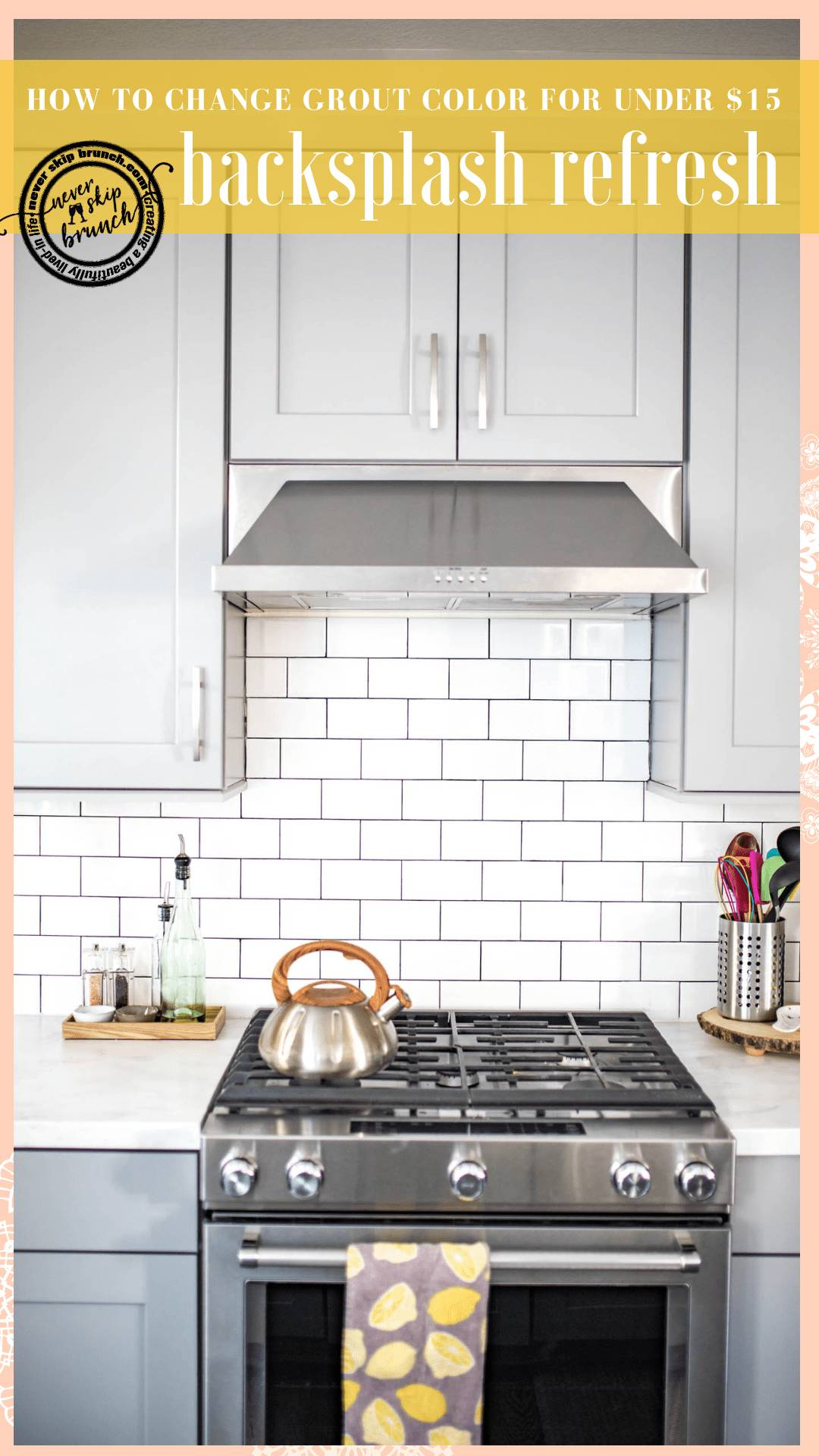 White Subway Tile Backsplash Fresh Backsplash Tile Refresh How to Make White Tile Pop for